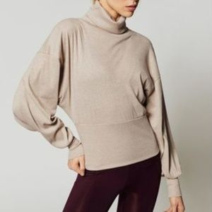 Free People Glam Turtle Neck Ivory Long Sleeve S